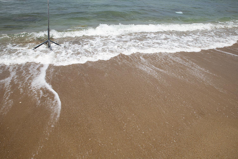 מעמד דגל על החוף.  תל-אביב