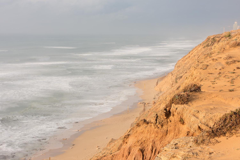 מבט צפונה בשמורת אירוס הארגמן. חוף נתניה